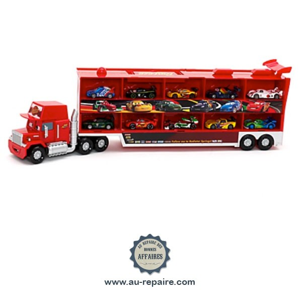 camion mack cars 2 parlant 10 voitures miniatures de course au repaire des bonnes affaires. Black Bedroom Furniture Sets. Home Design Ideas