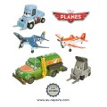 Ensemble de 10 figurines Planes Disney Pixar : Dusty, Ripslinger, Bulldog...