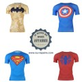 Tee-shirt compression Under Armour Super-Héros Marvel DC Comics