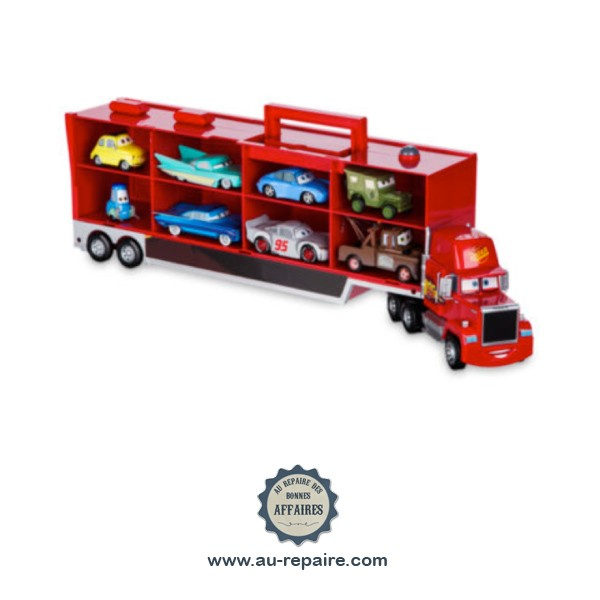 camion mack cars 3 parlant 8 voitures miniatures de course au repaire des bonnes affaires. Black Bedroom Furniture Sets. Home Design Ideas