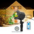 Projecteur Watts Laser LED 9 motifs animés 328 m²