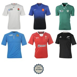 Angleterre, France, All Blacks... : Maillots rugby sélections nationales