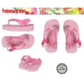 Tongs Havaianas mod&egrave;le Baby Pets rose