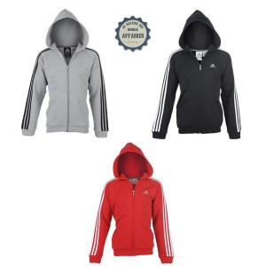"Sweat Adidas Essentials zippé à capuche ""Three Stripe"""