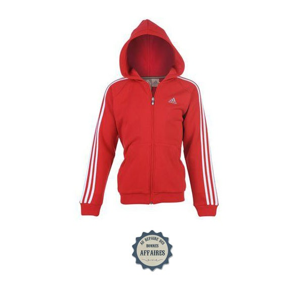 sweat a capuche adidas rouge